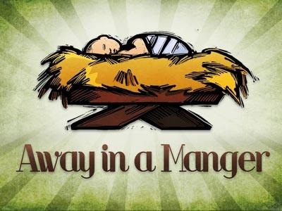 PowerPoint Template on Away In A  Manger With  Lyrics