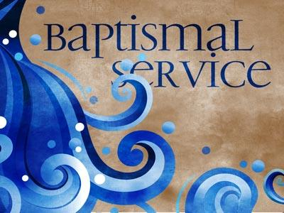 PowerPoint Template on Baptismal  Service