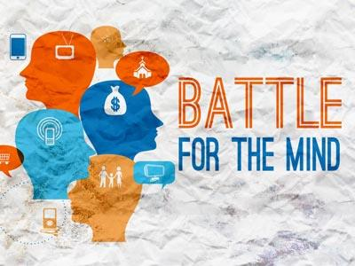 view the PowerPoint Template Battle For The  Mind