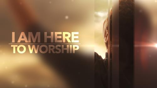 Video Illustration on I Am Here To Worship Worship Intro