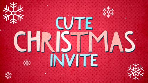 view the Video Illustration Cute Christmas Invite