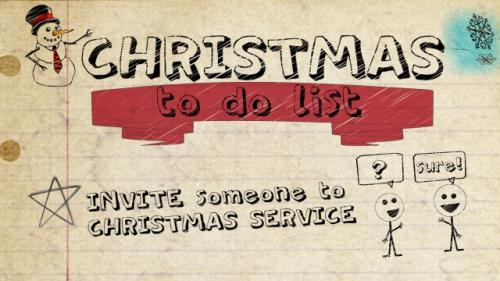 Video Illustration on To Do List (Christmas Invite)