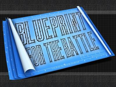 PowerPoint Template on Blueprint For The  Battle