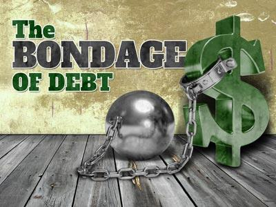 view the PowerPoint Template Bondage Of  Debt