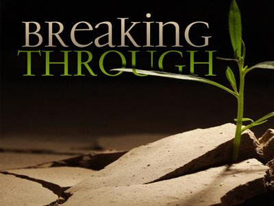 PowerPoint Template on Breaking  Through