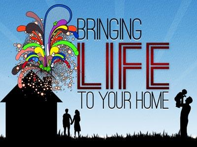 PowerPoint Template on Bringing  Life To  Your  Home
