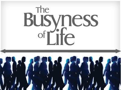 PowerPoint Template on Busyness Of  Life