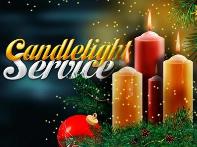 PowerPoint Template on Candlelight  Services