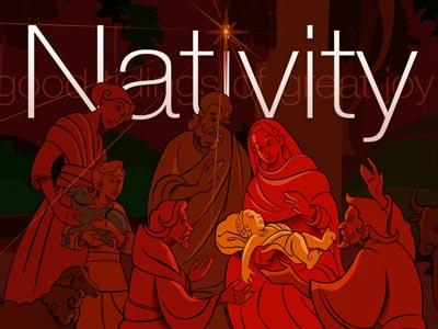 view the PowerPoint Template Christmas  Nativity