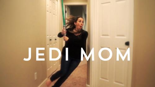 view the Video Illustration Jedi Mom