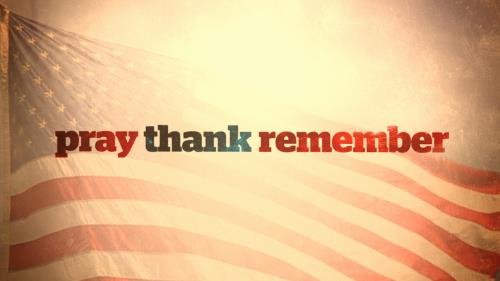 Video Illustration on Pray Thank Remember (Memorial Day)