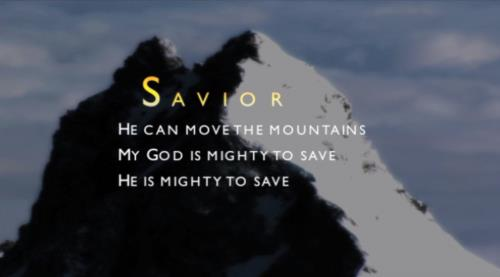 view the Worship Music Video Mighty To Save