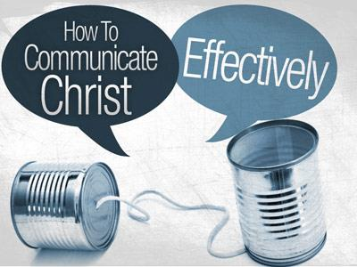 view the PowerPoint Template Communicate  Christ