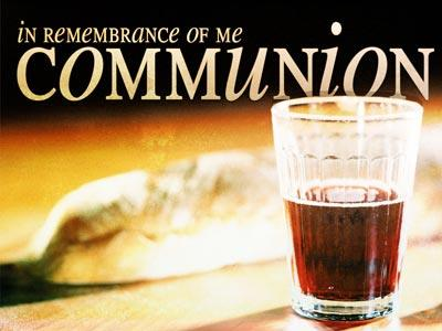 PowerPoint Template on Communion 3