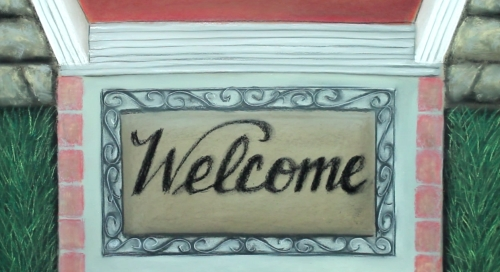 view the Video Illustration Welcome Mat