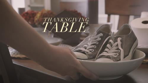 Video Illustration on Thanksgiving Table