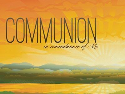 PowerPoint Template on Communion  In  Remembrance Of  Me