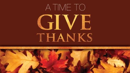 PowerPoint Template on Time To Give Thanks