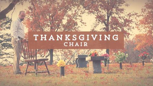 Video Illustration on Thanksgiving Chair