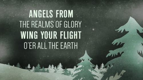 Worship Music Video on Angels From The Realms Of Glory/Emmanuel