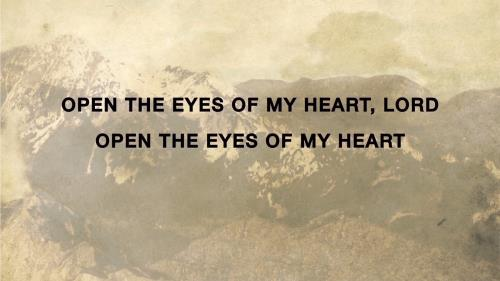 view the Worship Music Video Open The Eyes Of My Heart (Version 2)