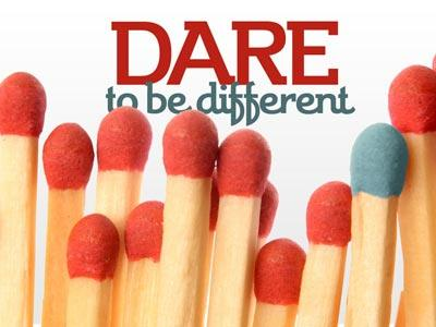 view the PowerPoint Template Dare To  Be  Different