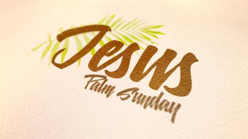 media Jesus (Palm Sunday)""