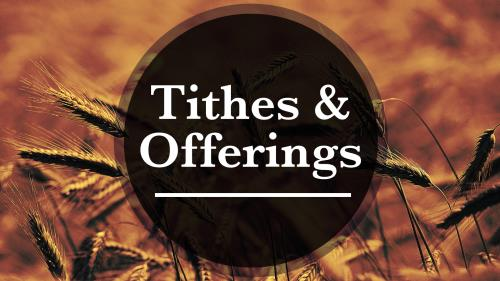 PowerPoint Template on Tithes And Offerings - Wheat