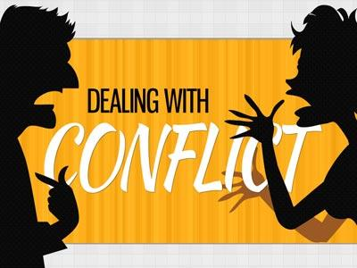 PowerPoint Template on Dealing  With  Conflict