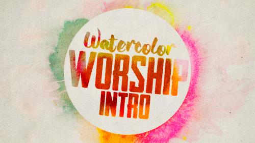 Video Illustration on Watercolor Worship Intro