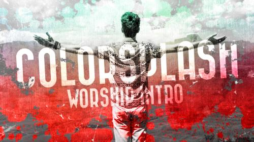 Video Illustration on Colorsplash Worship Intro