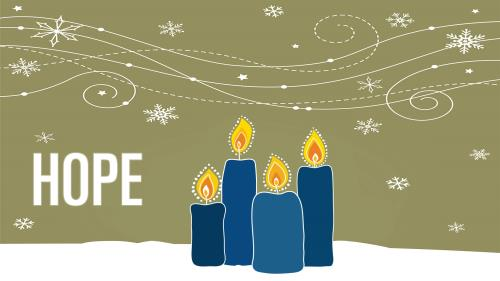PowerPoint Template on Advent Candles - Hope