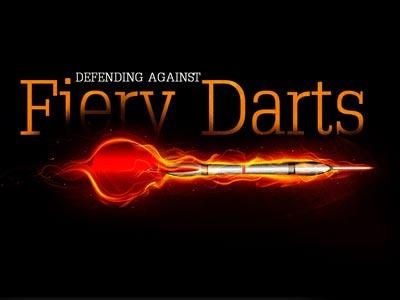 PowerPoint Template on Defending  Against  Fiery  Darts