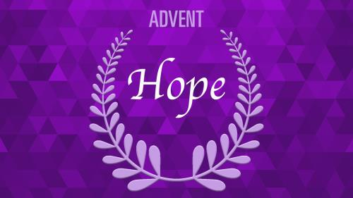view the PowerPoint Template Advent Wreath - Hope