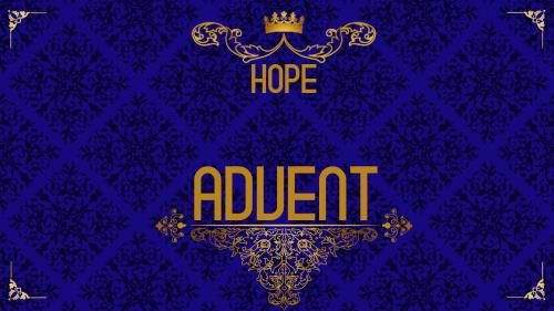 PowerPoint Template on Advent Royal - Hope
