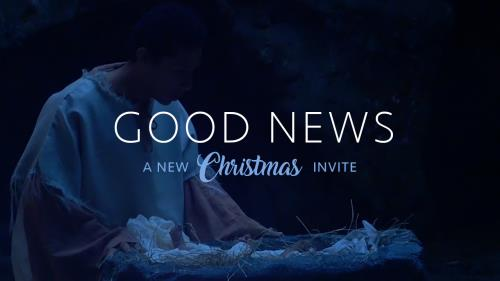 media Good News Christmas Invite