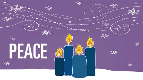 PowerPoint Template on Advent Candles - Peace