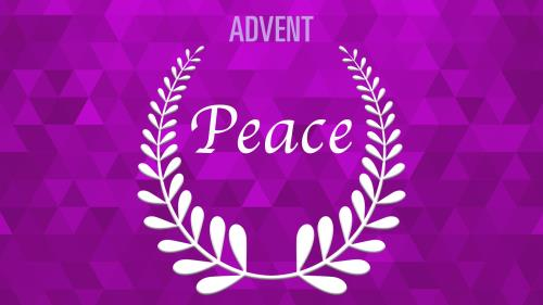 view the PowerPoint Template Advent Wreath - Peace