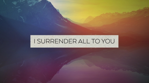 Worship Music Video on I Surrender
