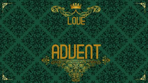 view the PowerPoint Template Advent Royal - Love