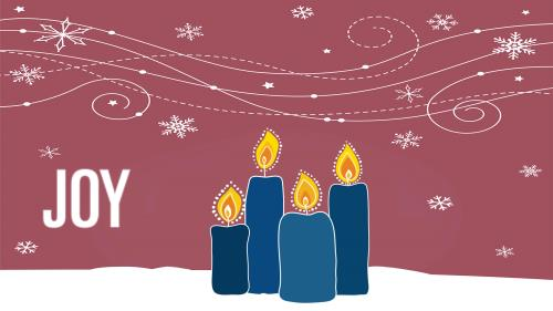 view the PowerPoint Template Advent Candles - Joy