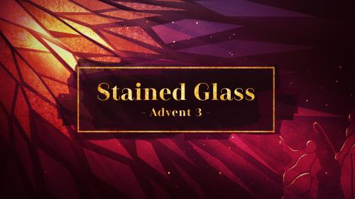 view the Video Illustration Stained Glass Advent 3 (The Shepherds)