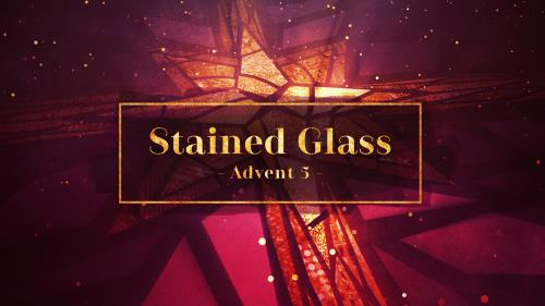 view the Video Illustration Stained Glass Advent 5 (Christ Is Born)