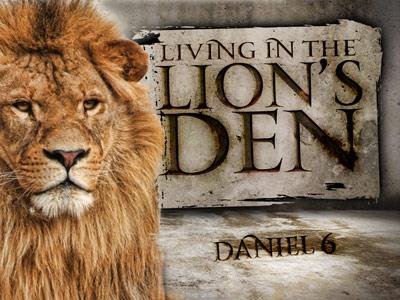 PowerPoint Template on Den Of  Lions