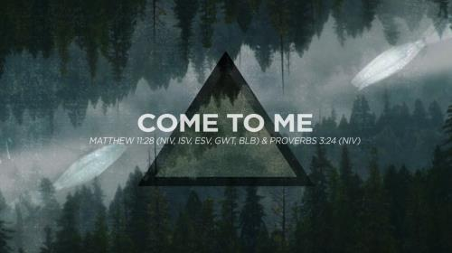 Worship Music Video on Come To Me