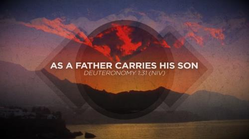 Worship Music Video on As A Father Carries His Son
