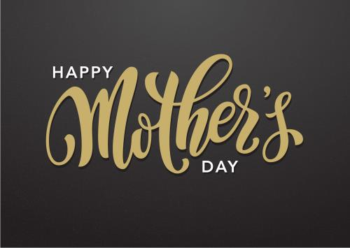 PowerPoint Template on Mother's Day Gold