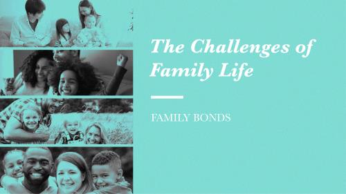 PowerPoint Template on Family Bonds