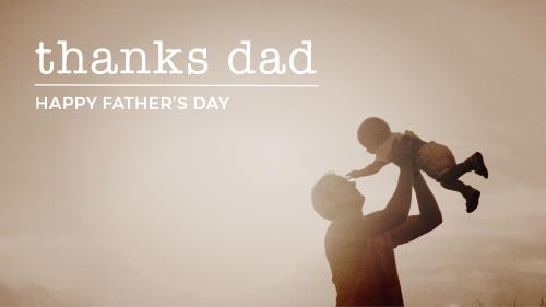 PowerPoint Template on Thanks Dad