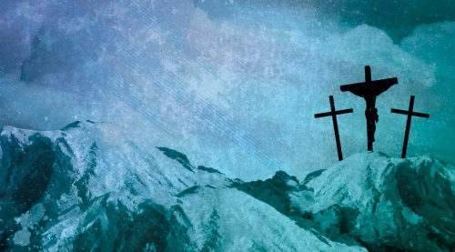 Motion Background on Mountain Cross